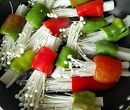 酿青椒金针菇的做法