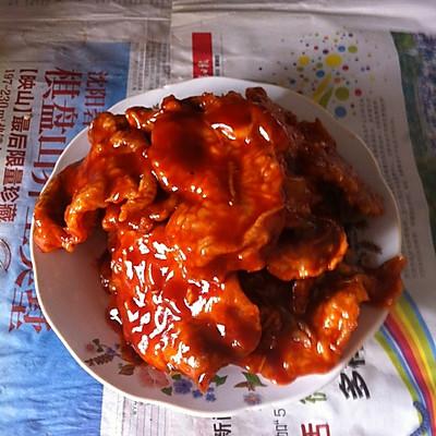 简单东北版锅包肉(番茄酱酸甜口味)