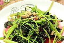 辣豆瓣炒红苋菜的做法