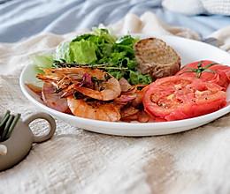黄油百里香焗鲜虾的做法