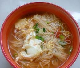 超简单美味挂面汤的做法
