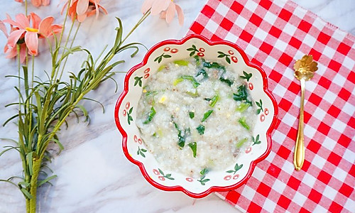 猪肝菠菜粥·辅食的做法