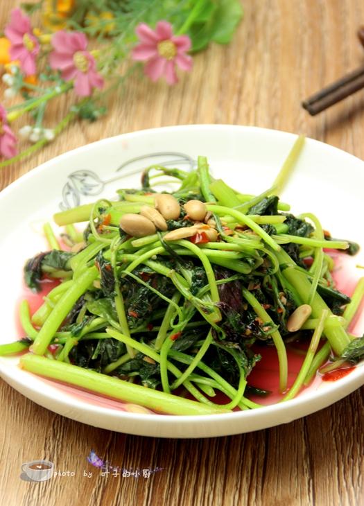 辣豆瓣炒红苋菜
