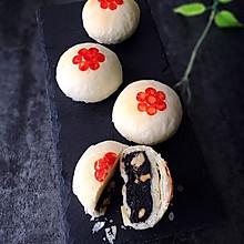 黑芝麻核桃酥皮月饼