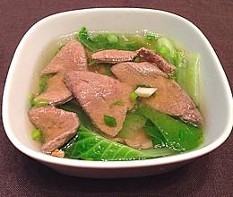 白菜猪肝汤的做法