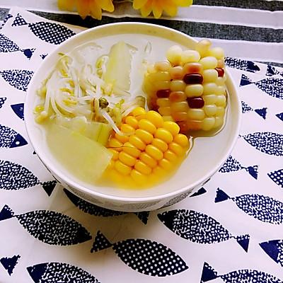 【美容瘦身汤】冬瓜豆芽玉米汤
