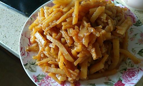 秘制土豆丝(不放豆油的秘制土豆丝)的做法