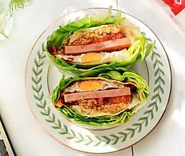 火腿肉松生菜三明治(生酮版)#321沙拉日#的做法