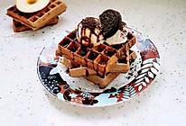 #换着花样吃早餐#奶香冰淇淋华夫饼的做法