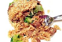 韩式烧烤味肥牛炒饭的做法