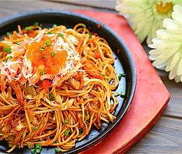 日式蟹肉炒面的做法