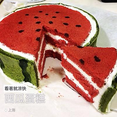 西瓜戚风蛋糕