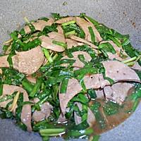 韭菜炒猪肝的做法图解12
