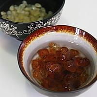 桃胶皂米红枣羹的做法图解2