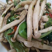 肉丝海鲜菇炒生菜