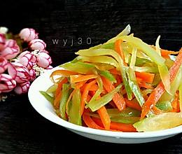开胃小菜 -- 凉拌莴笋丝的做法