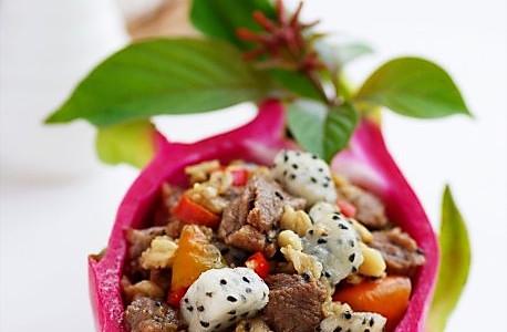 火龙燕麦牛肉粒的做法