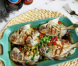 #美食视频挑战赛#简单快手清蒸鲳鱼的做法