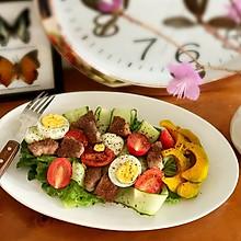 低卡减脂牛肉蔬菜沙拉