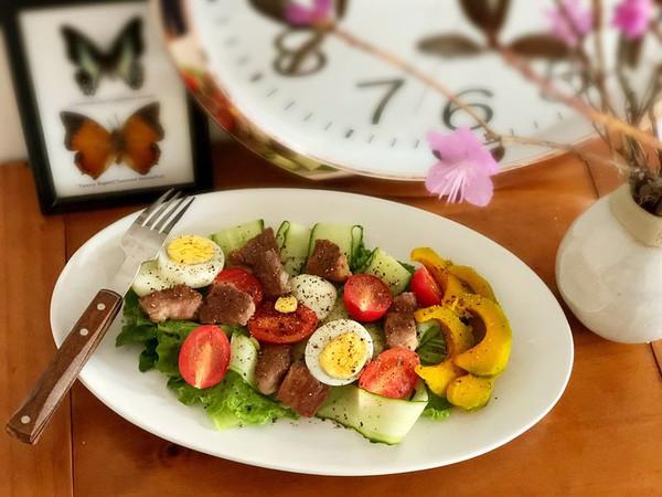低卡减脂牛肉蔬菜沙拉的做法