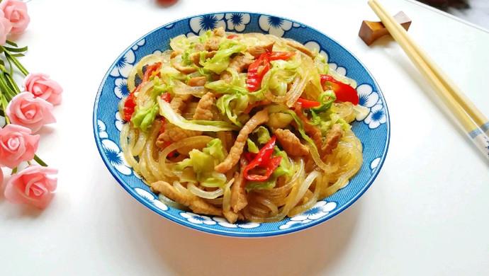 包菜肉丝炒粉条#肉食者联盟#