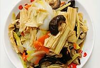 什炒冬菇腐竹的做法
