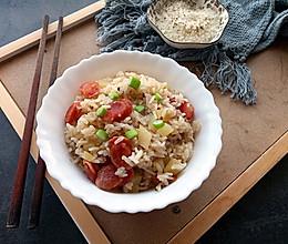 电饭锅腊肠土豆焖饭的做法
