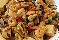 虾头油焖豆腐的做法