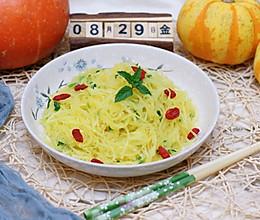 黄金瓜拌小葱的做法