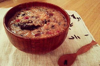 超能量菰米试用之菰米八宝粥——冬季暖身