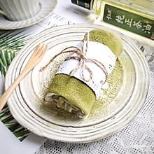 有一个平底锅就能轻松搞定的颜值报表的甜品——抹茶蜜豆毛巾卷