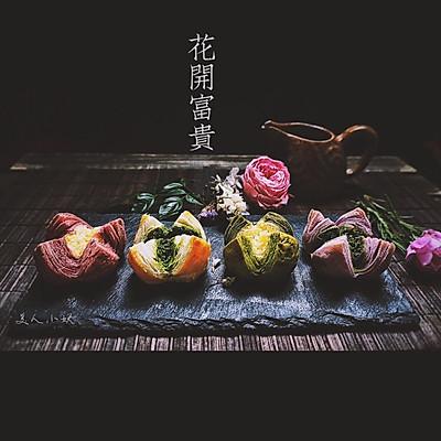 四种味道的椰蓉开口酥—花开富贵