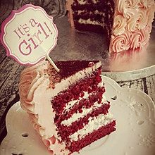 长帝烘焙节华东赛区#忆江雪糕#朗姆红丝绒蛋糕#