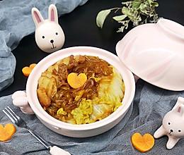暖冬食物:五花肉炖大白菜红薯粉丝的做法