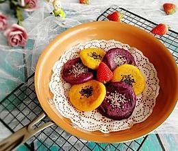 #精品菜谱挑战赛#双色豆沙饼的做法