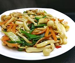 混合菌菇小炒(白玉菇蟹味菇)的做法