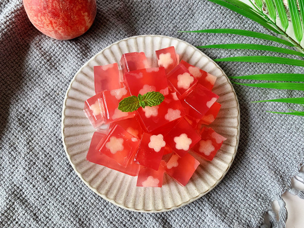蜜桃果冻的做法