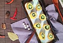 秋葵鸡蛋卷的做法