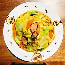家常炒圆白菜
