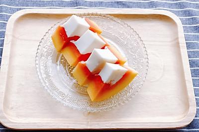 夏日清凉甜品-木瓜奶冻