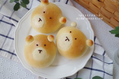 小熊红豆面包
