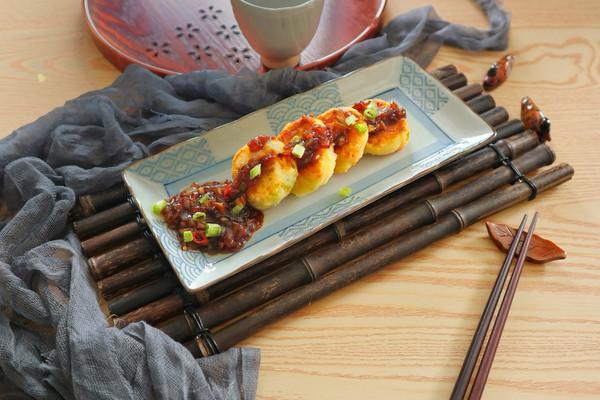 中式烧汁时蔬土豆饼,土豆的华丽变身的做法