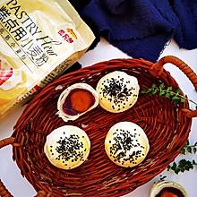 #爱好组-低筋#紫薯蛋黄酥