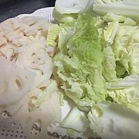 简单好吃的醋溜藕白菜的做法图解3