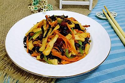 鱼香千页豆腐丝#给老爸做道菜#