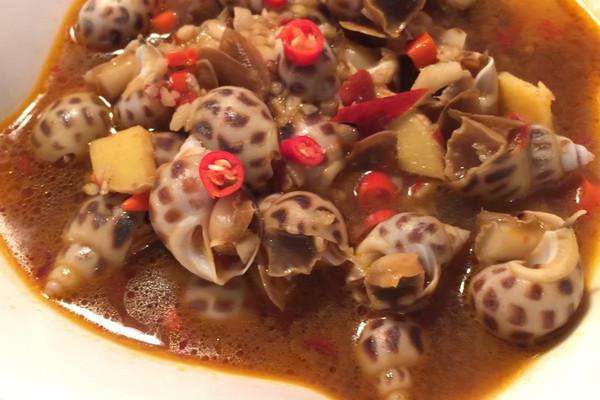 年夜饭 - 辣酒煮花螺的做法