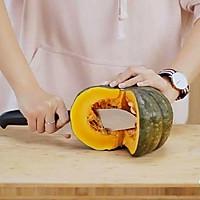 健康便当23(南瓜糙米饭+柠檬鸡丝+干锅包菜)的做法图解2