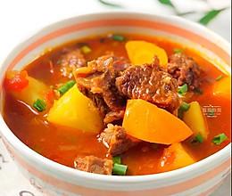 番茄土豆炖牛腩的做法