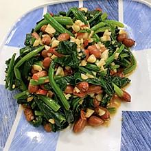 凉拌—菠菜花生米