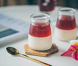 蔓越莓汁牛奶布丁果冻的做法